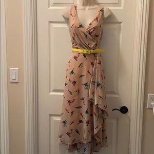 Lovely V-Neck Sleeveless asymmetrical dress